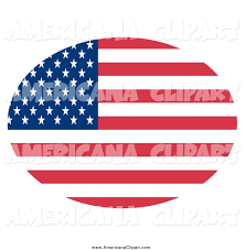 Flag 48 Stars Americana Vector Clip Art Of An Oval American Flag With Stars And
