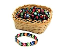 elastic bead bracelet images Daisy pattern beadwork seed bead elastic bracelets with display jpg