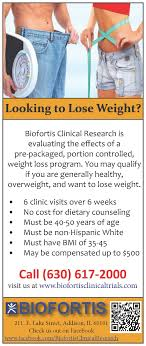 Get paid to lose weight biofortis clinical research research