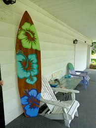 6 foot wood hawaiian surfboard wall art decor or headboard zoom