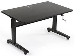 manual sit stand desk 48 u201d x 30 u201d tabletop