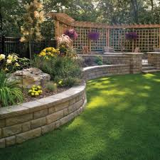 backyard retaining wall designs front yard retaining wall ideas