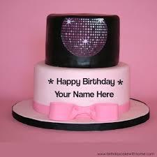 write any name on disco ball birthday wishes cake