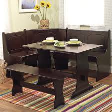 kitchen table oval set with bench metal drop leaf 6 seats black