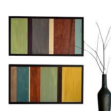 wood wall wood reclaimed wood color block