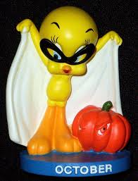 halloween collectible figurines 2000 danbury mint october tweety bird figurine calendar tweety