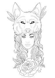 tattoo design wolf by chronokhalil on deviantart