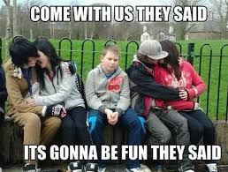 Couple Meme - come with us they said funny couple meme image