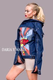hand painted denim jacket