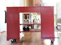 kitchen island rolling cart kitchen island bar cart from vintage desk to modern rolling cart