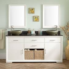 white double sink vanity signature hardware