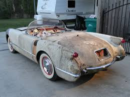 1961 corvette project for sale 1954 corvette project ncrs needs restoration c1 1953 1955 rod