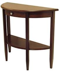 amazon com winsome wood round end table with drawer and shelf