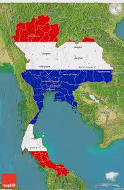 map of thailand flag 3d map of thailand satellite outside