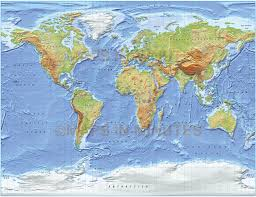 Siberia On World Map by Digital Vector Royalty Free World Relief Map In The Gall