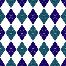 shades of dark purple seamless argyle pattern in shades of dark blue with white stitch