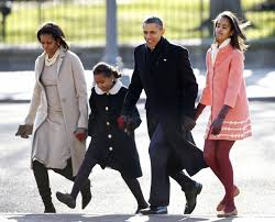 Obama First Family by First Family Goes To Church 3chicspolitico