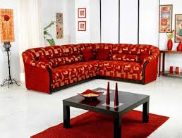 Red Corner Sofa by Furniture L Shaped Red Synthetic Leather Sofa With Chaise And
