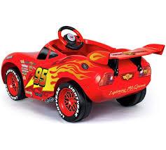 lighting mcqueen pedal car buy disney cars 3 6v mcqueen powered car null argos