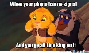 Lion King Meme - lion king phone signal by trollmum meme center
