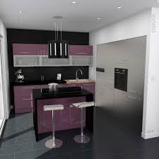 meuble cuisine violet enchanteur cuisine équipée violet avec meuble cuisine violet en