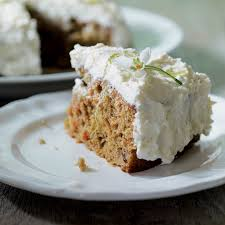 carrot cake with lime and mascarpone topping recipe epicurious