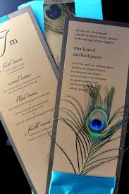 Seal And Send Wedding Invitations Elegant And Vintage Style Of Peacock Wedding Invitations