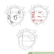 how to draw manga expressions 6 steps with pictures wikihow