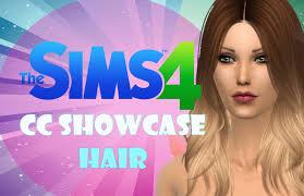 the sims 4 cc hair showcase youtube