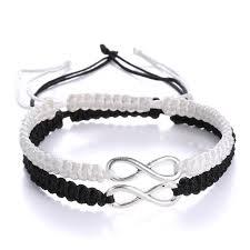 infinity braid bracelet images Couple 8 infinity bracelet adjustable rope braided wrap bracelets jpg