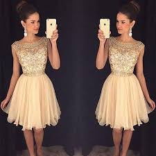 aliexpress com buy 2017 champagne sparkly short prom cocktail
