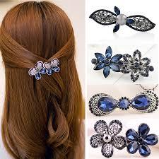 hair clasp stylish vintage ink blue springs burst hair clip hair