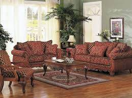 Two Piece Sofa by Georgian Court Two Piece Sofa Set In Floral Chenille Fabric Cover