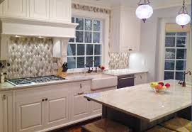 traditional backsplashes for kitchens encore ceramics wave mosaic with added dimensionals makes the