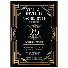 retirement invitations elaborate deco frame retirement party invitations paperstyle