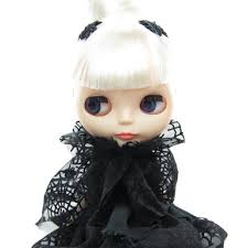 spider web cape halloween costume collar for blythe u0026 pullip dolls