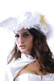 lady u0027s white pirate costume hat with cloak cosplay hat