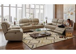 Beige Leather Living Room Set Florence 3 Pc Pwr Living Room Living Room Sets Living Room