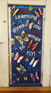back to bulletin board or door idea