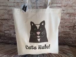 cats rule black cat tote bag alfie moon designs