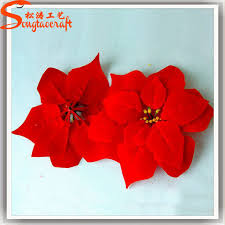 plastic poinsettia wholesale artificial poinsettia flowers