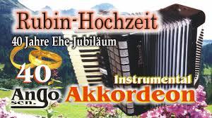 hochzeitstage jubilã en akkordeon ango sen rubin hochzeit 40 jahre ehe jubiläum