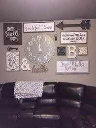 home decor walls great picture arrangement oar and clock mix pictures with