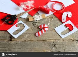 felt christmas candy cane ornament scissors paper template