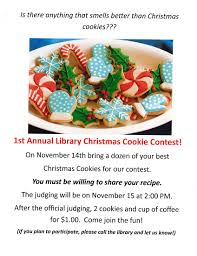 cookie contest springdale free public library