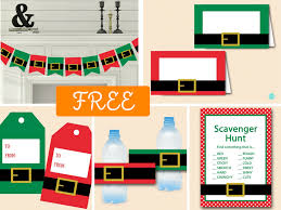 free christmas party printables magical printable
