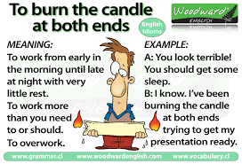 burning the candle at both ends meaning