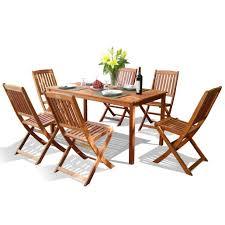 Folding Outdoor Chair Vifah V98set4 Balthazar Rectangular Table And Folding Chair