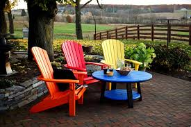 Poly Lumber Outdoor Furniture Recycled Plastic Adirondack Chairs For Everyday Use