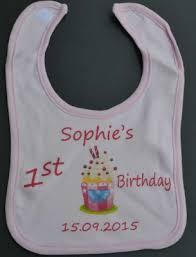 1st birthday bib baby jersey knit bib 1st birthday 1st birthday bib 6 99
